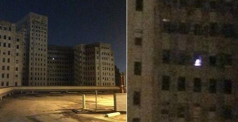 Is this Haunting and Mysterious light in a abandoned hospital a Ghost or Santa?
