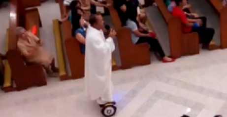 Filipino Priest Fired for riding Hoverboard during Mass