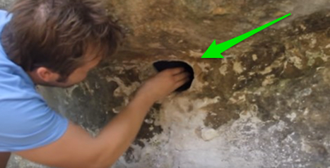 He stuck his hand inside this hole and what happened next will shock you.