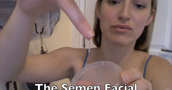 Woman claims Semen on her face everyday stops her aging