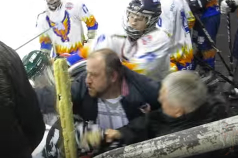 Hockey Fight: Coach VS Referee