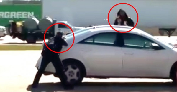 Horrific video of Police killing Robber holding hostage in Dallas