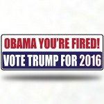 Trump Sticker: Obama you're fired