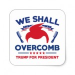 We shall overcomb Trump Sticker