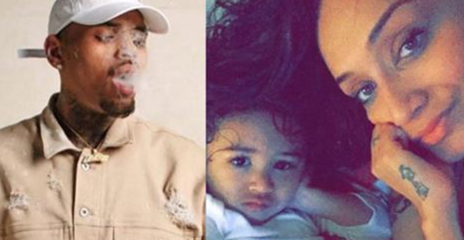 Chris Brown gave their daughter Asthma for always smoking Weed next to her