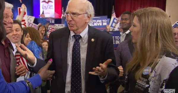 Watch Larry David doing Bernie Sanders Impersonation on SNL Full Video