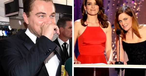 Tina Fey made fun of Leonardo DiCaprio and he laughed out loud. What did she say?