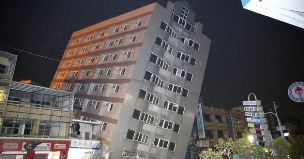 Shocking Video of Several Buildings Collapse during Taiwan Earthquake